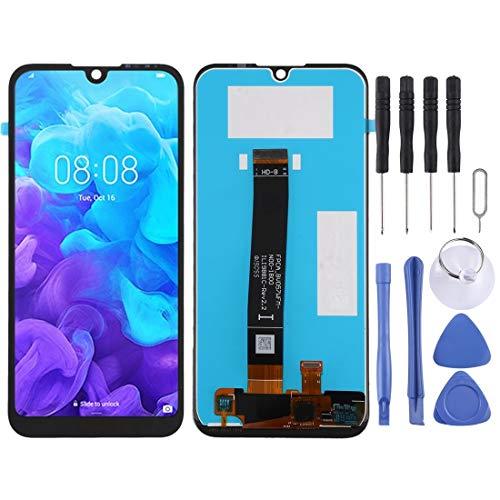 H-HX Display Reparaturset, LCD-Display und Digitizer Vollversammlung for Huawei Y5 (2019) (Schwarz) (Color : Black)