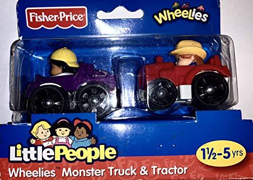 Little People 2 er Set Wheels Truck und Traktor Fisher Price - Spielzeug - Farbe: lila/rot