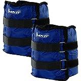 Movit 2er Set Gewichtsmanschetten für Hand- und Fußgelenke 2X 4,0kg Laufgewichte blau