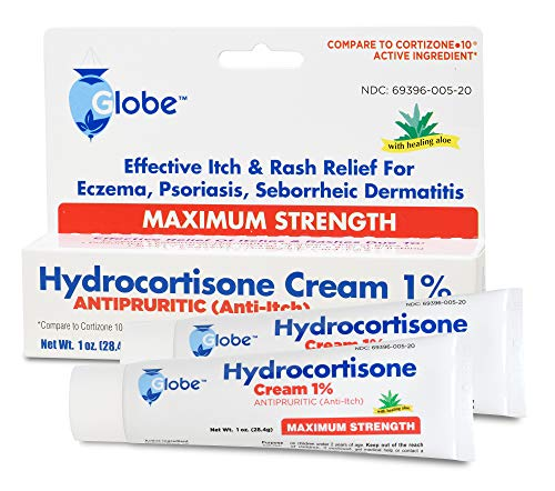 Hydrocortisone 1% Cream, Anti-Itch Cream, 2 Ounce (2 x 1 oz Tubes)