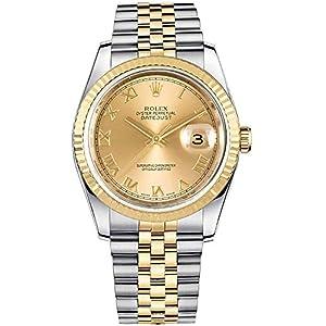Fashion Shopping Rolex Datejust 36 Yellow Rolesor Jubilee Bracelet Luxury Watch Ref. 116233
