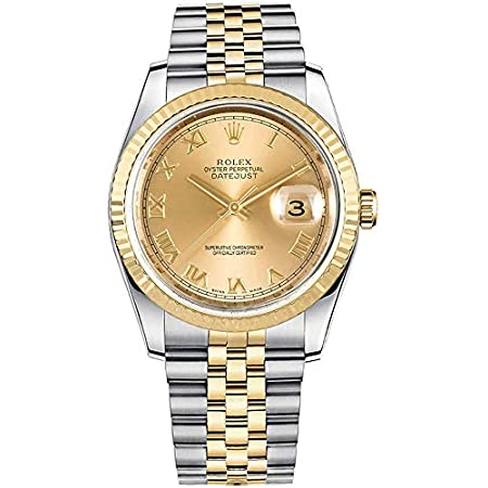Fashion Shopping Rolex Datejust 36 Yellow Rolesor Jubilee Bracelet Luxury Watch Ref. 116233