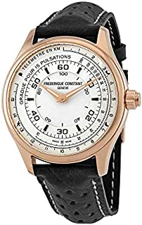 Frederique Constant HSW White Dial Leather Strap Men's Watch FC282ASB5B4