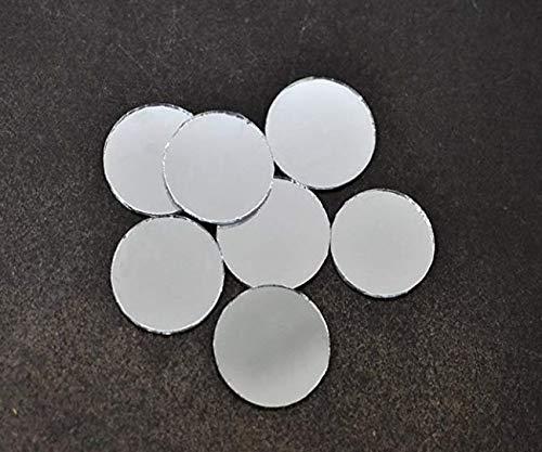 25pcs Silber Runde Glas-Spiegel Aufkleben Auf Cabochon-Dreamcatcher-Dekoration, Hand-Stickerei Goldwork Luneville Tambour Indische Shisha Boho 20mm