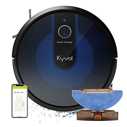KYVOL Robot Aspirapolvere e Lavapavimenti Senza Filo, Robot Lava e aspira Pavimenti, Robot...