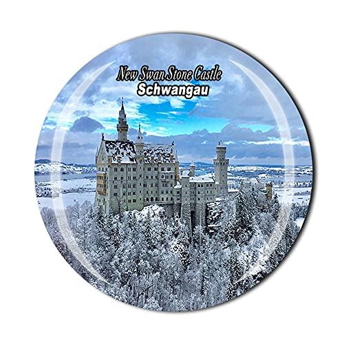 Alemania 3D nuevo cisne piedra castillo Schwangau imán refrigerador estilo cristal recuerdo nevera imán hogar cocina decoración regalo colección