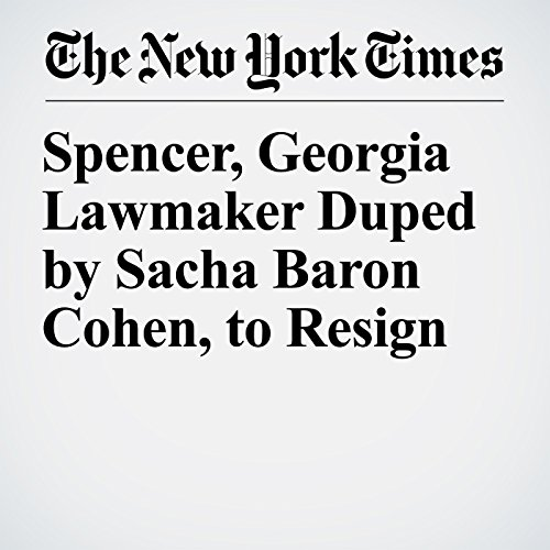 Spencer, Georgia Lawmaker Duped by Sacha Baron Cohen, to Resign copertina