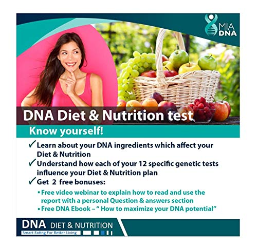 Purchase MiaDNA Genetic Home DNA Test Kit for Diet & Nutrition ! Leverage Personal Genetic Testing t...