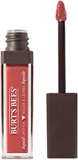 Burt's Bees 100% Natural Glossy Liquid Lipstick, Coral Cove, 1 Tube
