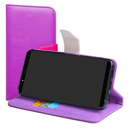 LiuShan Ulefone Power 3S Funda, PU Cuero Book Style Billetera Cartera Monedero con Soporte Funda Caso para Ulefone Power 3S (6.0 Pulgadas) Smartphone(con 4 en 1 Regalo empaquetado),Púrpura