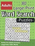 Large Print Word Search Puzzles: Perfect For Adults & Seniors: Word Search Puzzle Book Gift for Adults to Enjoying Leisure Time With Solutions ( Volume 8 )