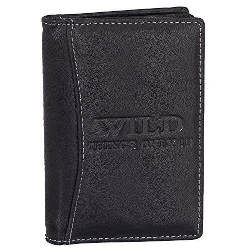 Ledershop24 Geschenkset - RFID & NFC Ausweisetui Leder Ausweismappe Ausweishülle Kreditkartenetui Kartenetui Führerschein Farbe Schwarz 5521