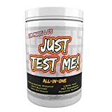 Just Test Me! All-In-One Insanely High Dosed Natural Testosterone Booster - Post Cycle Therapy PCT - Anti-Estrogen - DHT Blocker - Prostate Support - Power - Extra Strength (360 Caps)