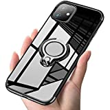 iPhone 11 ケース リング クリア 透明 磁気カーマウントホルダー スタンド メッキ柔らかい殻 滑り防止 耐衝撃カ 黄変防止 軽量 薄型 TPU 全面保護 超耐久 スクラッチ防止