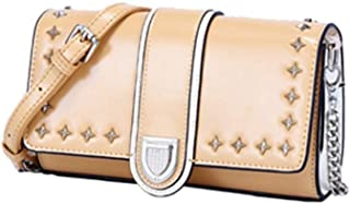 Runhuayou New Trend Perfunctory Fashion Bills Shoulder Slung Little Handbag Leather Bag Great for Casual or Many Other Occasions Such (Color : Brown)