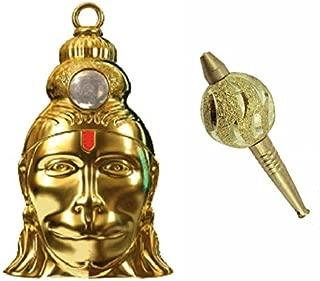 SATISFACTORY NATION Hanuman Chalisa Yantra Locket with Hanuman's Gada