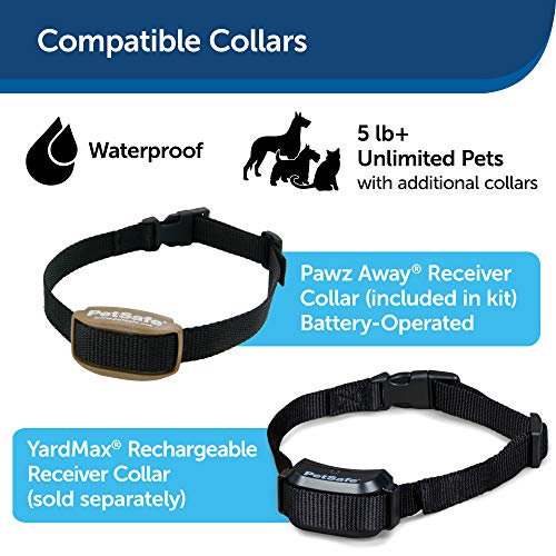 PetSafe Pawz Away Outdoor Pet Barrier for Cats and Dogs, with Adjustable Range, Waterproof