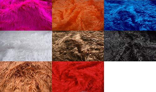 Fabrics-City{18ce93d5581d33bc240638b5a881abfda722340acce3756272f20cda81109a85} PINK MONGOLISCHES ZOTTELFELL LANGHAAR FELLIMITAT STOFF STOFFE, 3958