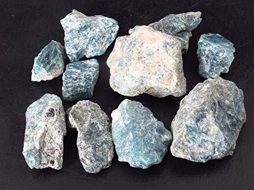 Lote de 10 cristales de grandidierita de Madagascar de piedra rusa, 211 quilates