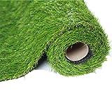 CJJC Gazon Artificiel, Hauteur Naturelle et réaliste de Haute densité d'aspect de Pile de 3,5 cm, Fausse pelouse Parfaite pour Le Golf de Stade de Jardin 2x1m
