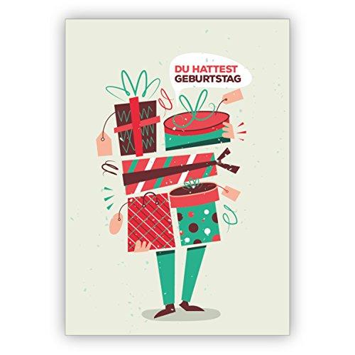 1 verjaardagskaart (privé & zakelijk) leuke verjaardagskaart als men het eens eens vergeten hebt: Je hebt verjaardag voor familie, bedrijven, klanten en medewerkers.