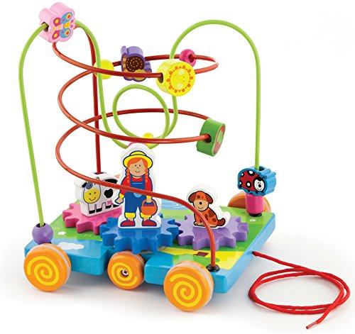 Viga Toys - 50120 - Circuit De Perles À Roulette - Ferme