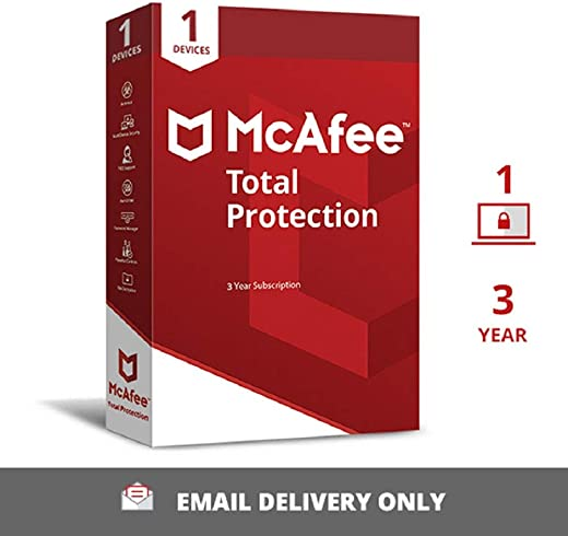 McAfee Total Protection (Windows / Mac / Android / iOS) - 1 User, 3 Years (Email Delivery in 2 hours- No CD) 1