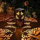 Solar Lantern Light Garden Hanging Lantern Waterproof Butterfly Solar Outdoor...