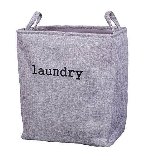 (ADOSSY) 大きいサイズ ランドリー 収納 シンプル 洗濯かご 大容量 お風呂 持ちやすい 洗える (グレー)