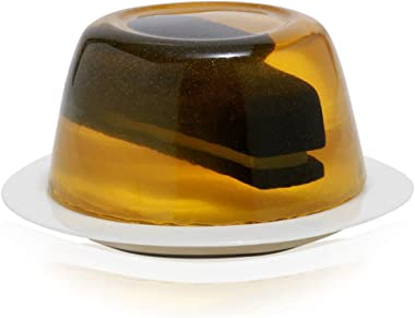 The Office Stapler in Gelatin Paperweight, by Just Funky, Yellow Paper Weight