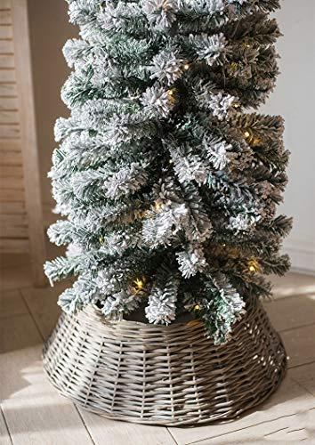 TONINI Árbol de Navidad de Mimbre Grande Faldas