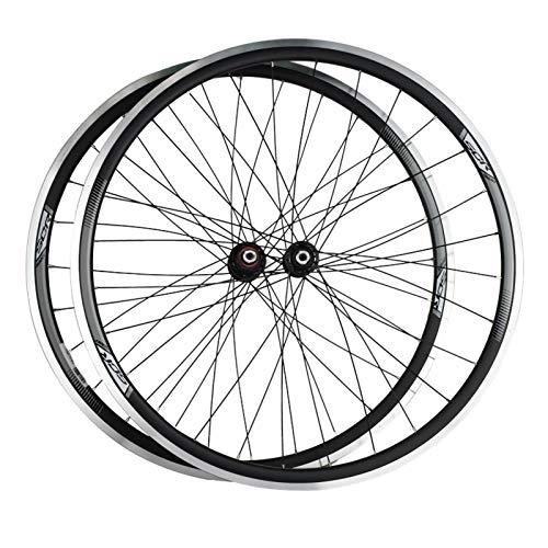 Juego Ruedas MTB,700C Llanta Aluminio Doble Capa Soporta Volante de Cassette de 8/9/10 Velocidades Apto para Bicicletas Bicicleta Montaña Juego de Ruedas