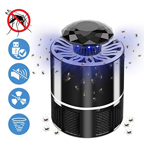Ovareo Insektenvernichter, Elektrischer Insektenvernichter UV LED Mückenvernichter Insektenfalle Mückenlampe Mückenschut Fluginsektenvernichter für Innen und Außeneinsatz (Schwarz)