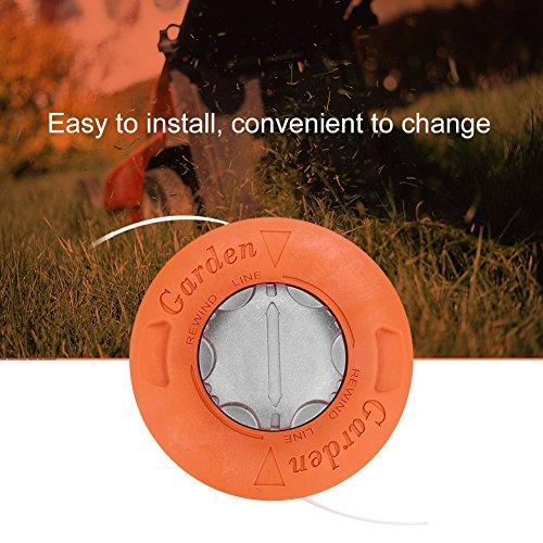 Fdit Grass Trimmer Head Aluminum Brush Cutter Head Strimmer Mower Universal Accessories for Lawn Garden