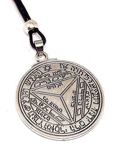 Eclectic Shop Uk Siebter Pentagramm von Saturn Schlüssel von Solomon Talisman Dichtung Kabbalah Hermetische Anhänger Perlen Kordel Necjklace