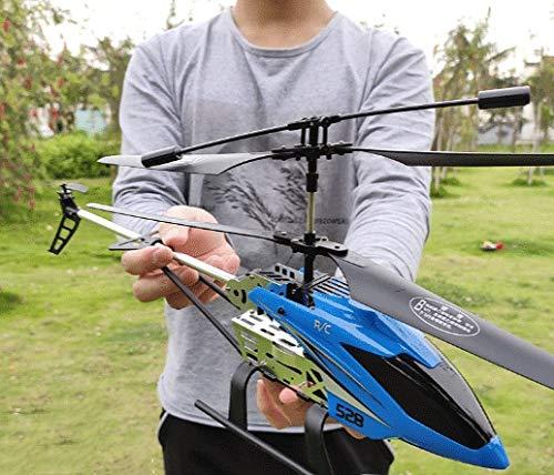 Mopoq (con Dos baterías Largo 50.5l Cm Helicóptero RC electrónico 3.5 Canal Radio Control Remoto Aviones Niños Aviones Modelo de Juguete Control Remoto Aviones Helicóptero Súper Grande Resistencia fo