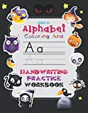 Alphabet Coloring And Handwriting Practice Workbook Ages 3+: Halloween Letter Tracing And Animal Coloring Art Hand Drawn Illustrations For Kids Ages ... Gift For Preschool, Kindergarten, Toddlers