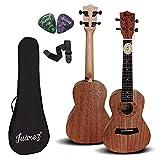 "Juarez 21"" Soprano Ukulele Kit, Mahogany Body, AQUILA Strings (Strings Made in ITALY)"