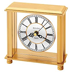 Bulova B1703 Cheryl Table Clock, Brass