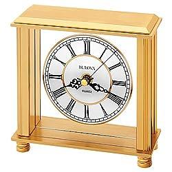 Bulova B1703 Cheryl Table Clock, Brass