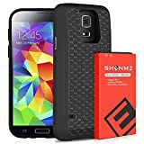 Galaxy S5 Battery, 7800mAh (Up to 3X Extra Battery Power) Galaxy S5 Extended Battery Replacement with Black Protection Cover Case for Samsung Galaxy S5 G900A G900P G900V G900T G900F G900H G900R4 I9600