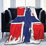 Abrigo de sofá, Manta de Microfibra, Manta Peluda, Manta de Franela con diseño de...