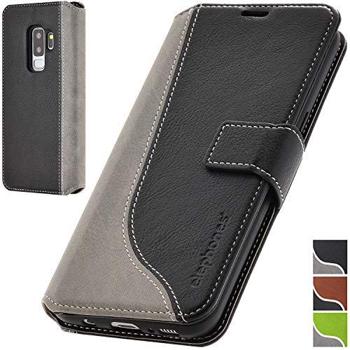 elephones® Handyhülle für Samsung Galaxy S9 Plus Hülle - Kompatibel mit Galaxy S9+ Schutzhülle Handy-Tasche Flip Case Cover
