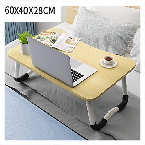 LLEH Escritorio para Laptop, Mesa Plegable para computadora portátil Mesa de Cama portátil Desayuno Bandeja de Cama para Servir con pies Antideslizantes, para Trabajo de Estudio y Lectura,Maple