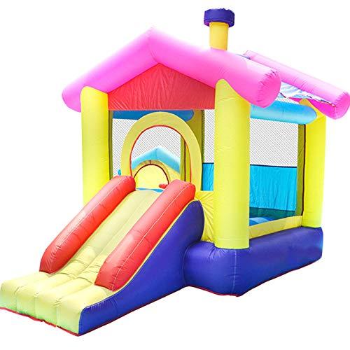 ZHANGZ Casa de Juguetes para niños con Castillo Hinchable, Castillo Hinchable con soplador, Adecuado para jardín Interior y Exterior