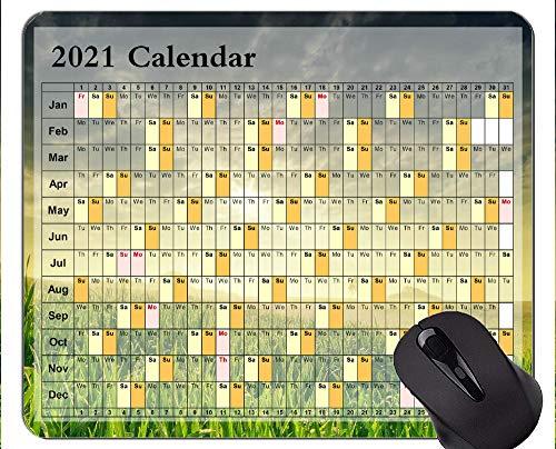 2021 Kalender Personalisiert Ihr Gaming-Mousepad, schönes Grasland-Gummimaus-Pad