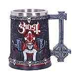 Nemesis Now B4847P9 Licensed Ghost Papa Emeritus III Summons Red Tankard, Resin w. Stainless Steel