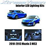 Xtremevision Interior LED for Mazda 3 MS3 2010-2013 Sedan Hatch (7 Pieces) Cool White Interior LED Kit Package+ Installation Tool