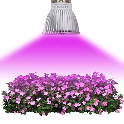 LED Plant Lamp Grow Lamp Patch Super Heldere Daglicht Verlichting E27 18 W IP42 voor Elke Groei Perioden 120° Verlichting, Afmetingen: 5 * 5 * 6,6 cm (2 stuks)
