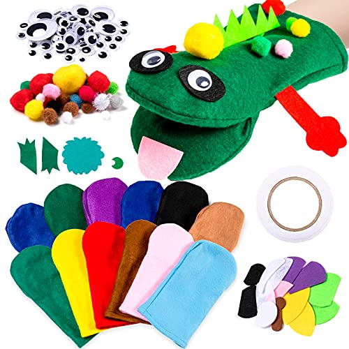 12Pcs DIY Hand Puppets Making Kit Toys for Kids Age 4-6 Crafts & Arts Supplies, Craft Box for...